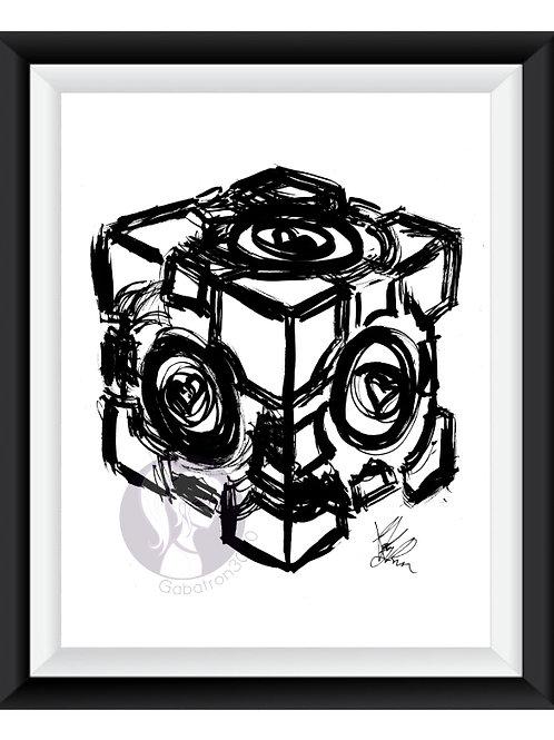Companion Cube Art Print