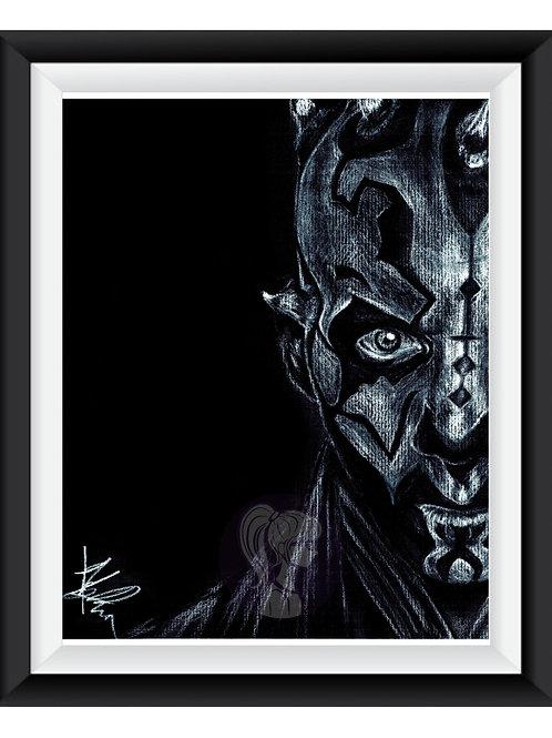 Darth Maul Art Print