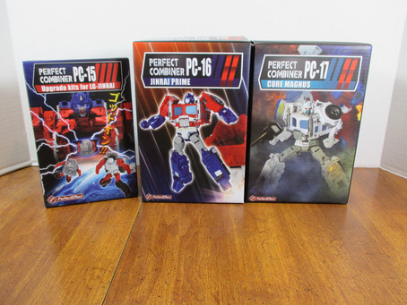 Toy Review - Perfect Effect's PC-15, 16 and 17 (Upgrade Parts, Jinrai Prime and Core Magnus