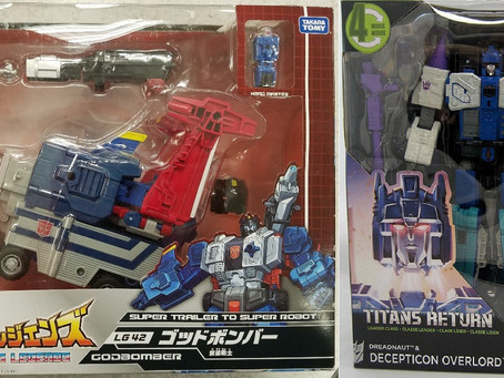 Toy Review - Transformers Titans Return Overlord and Takara's Transformers Legends Godbomber