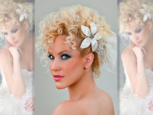 Before & After: Glamorous Curly Updo