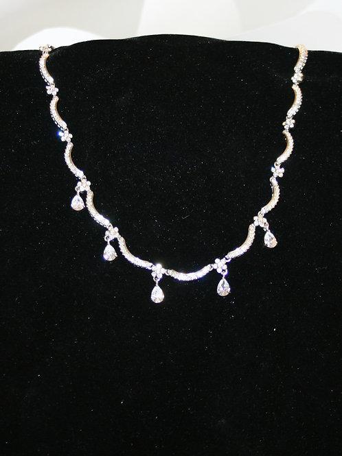 Rhinestone Scallop Necklace