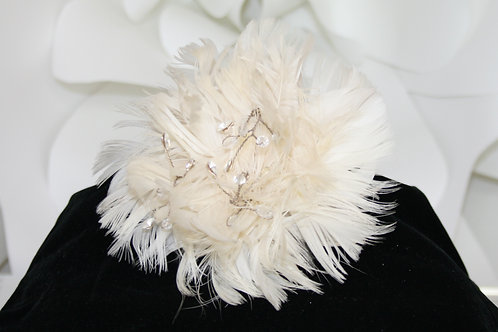 Feathered Flower Clip