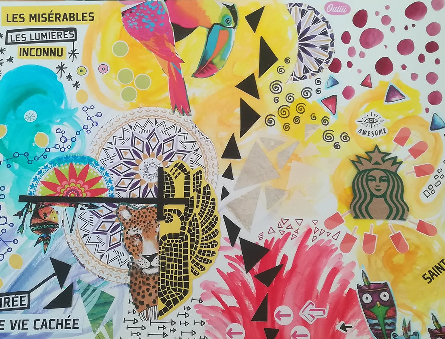 Collage coloré