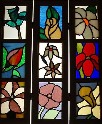 Framed Floral Panel