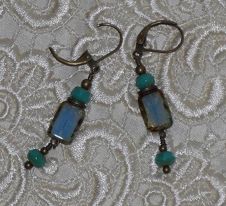 Czech Table Glass Earrings