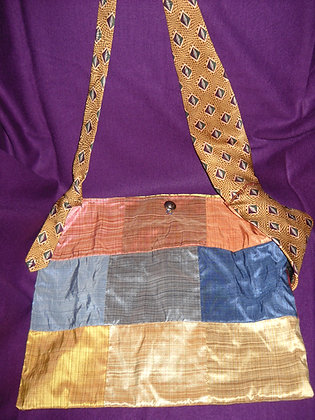 Quilted Silk Messenger Bag