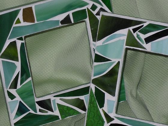 Green Mosaic Frames