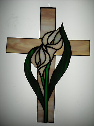 Cross w/ Calla Lily