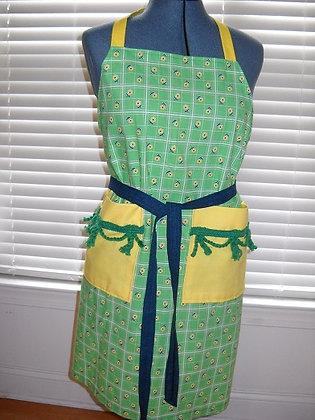 Green Print Apron