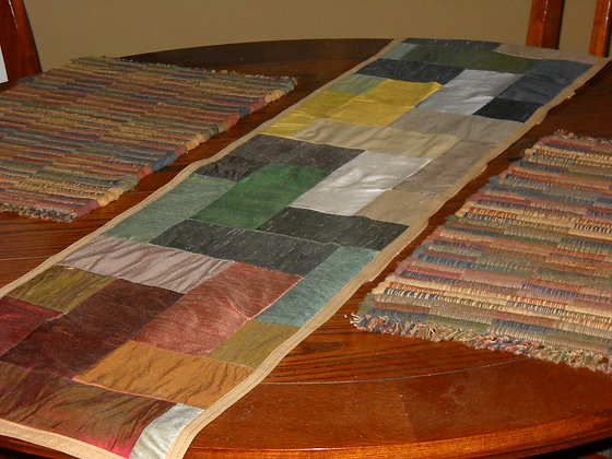 Quilted Silk Table Runner