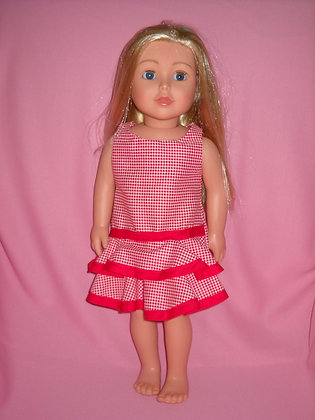 Red Plaid Party Dress