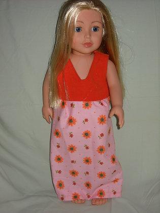 Orange & Pink Floral Dress
