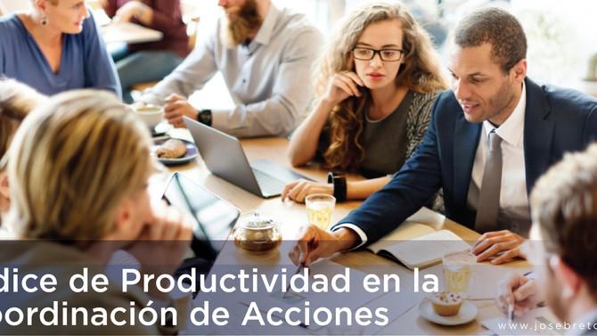 Índice Productividad en la Coordinación de Acciones en RD