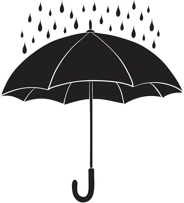 umbrella-and-rain-silhouettes-vector-945