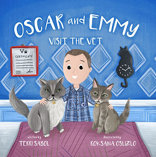 Oscar and Emmy Visit the Vet - Front Cov