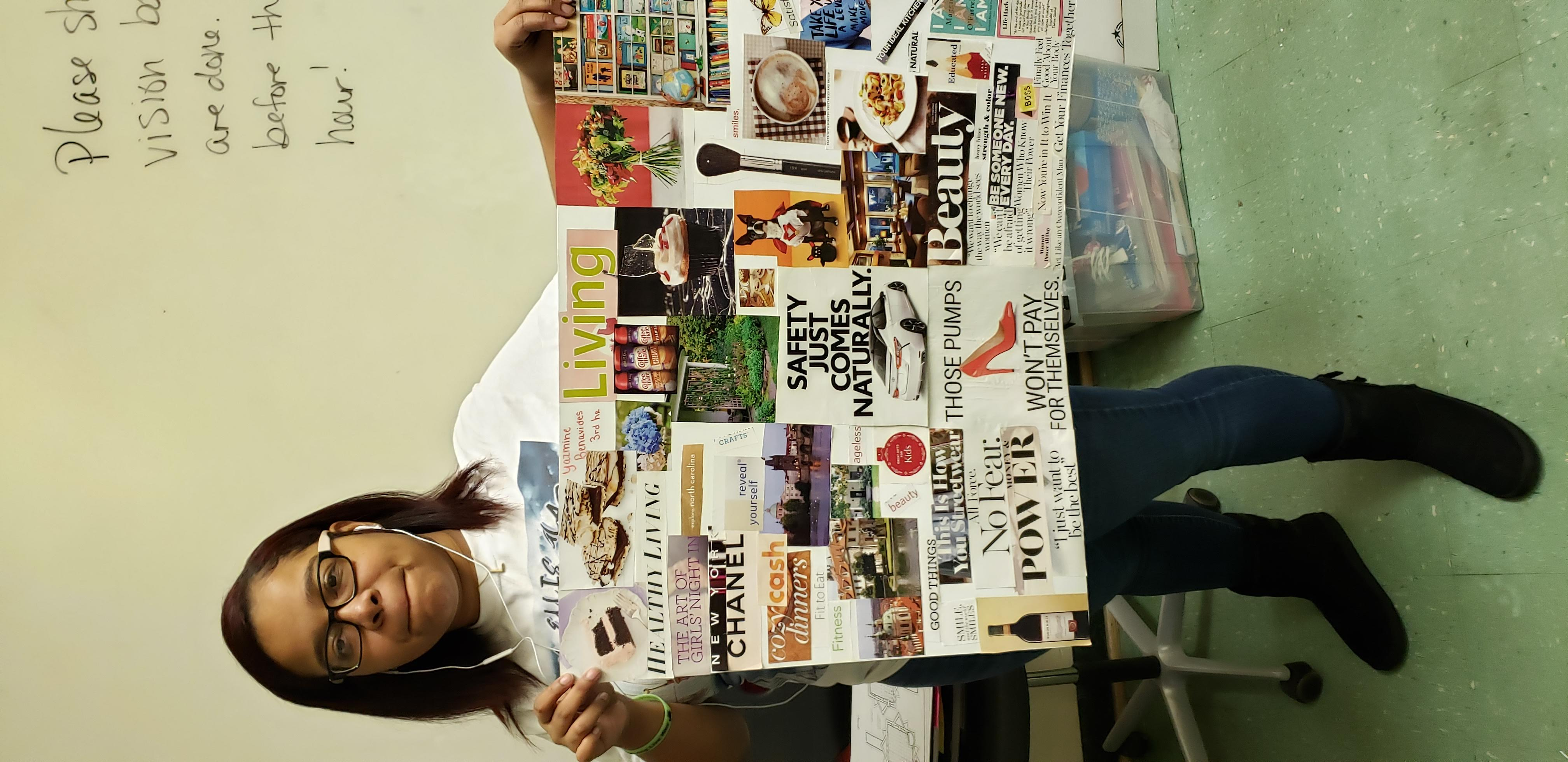 Senior with her Vision Board