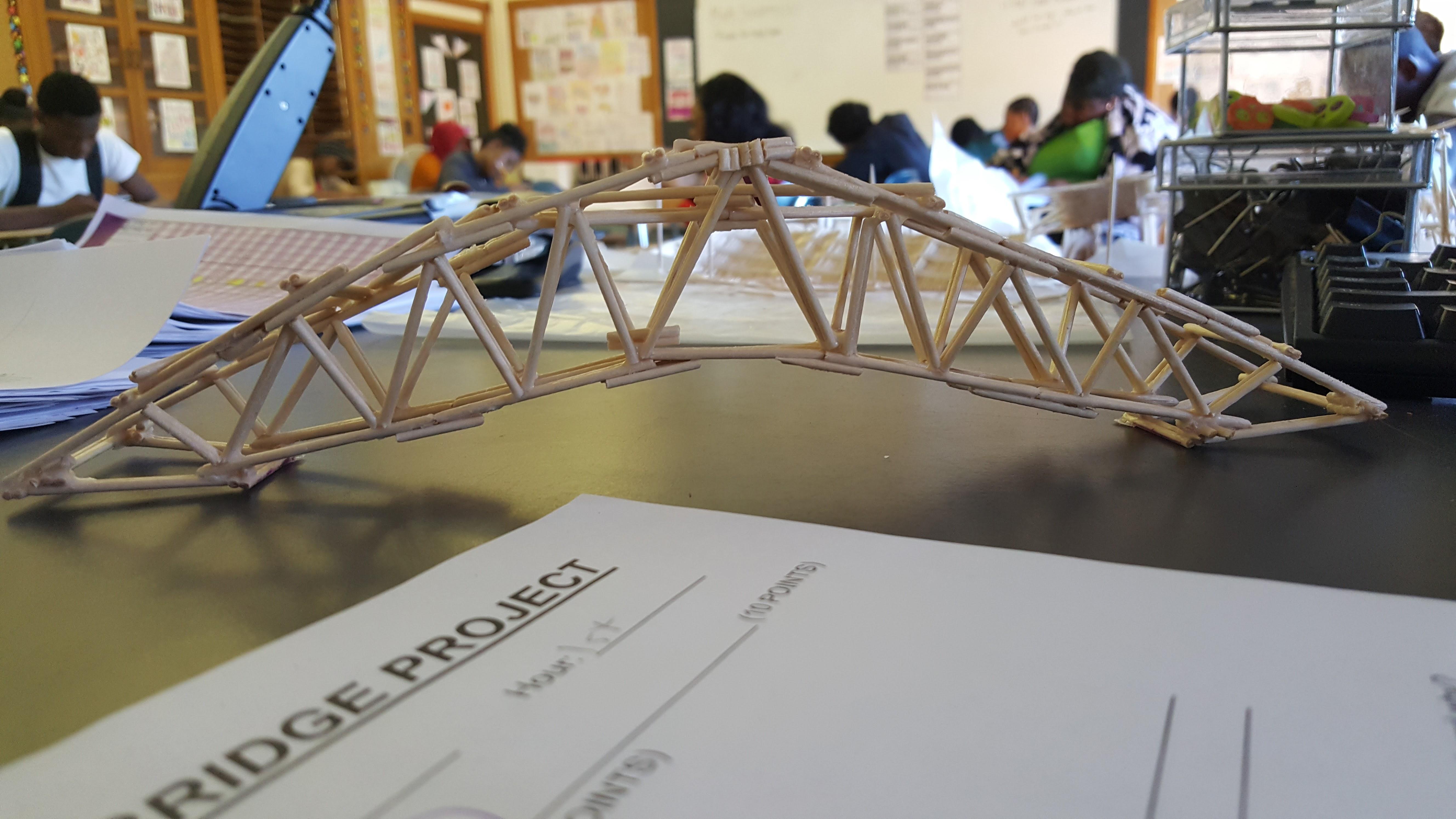 Student's Toothpick Bridge