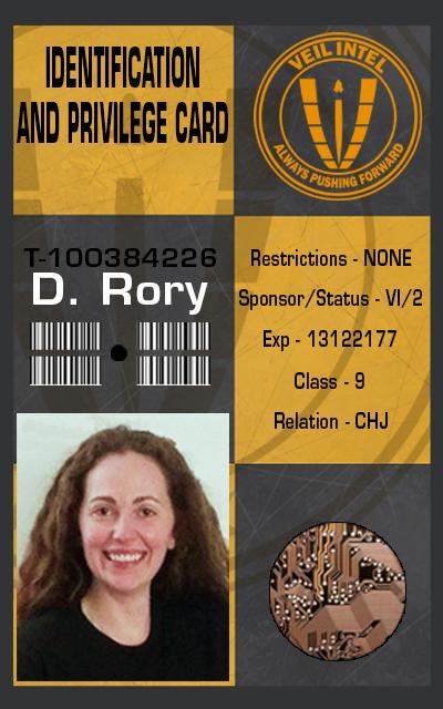 Rory's ID Badge