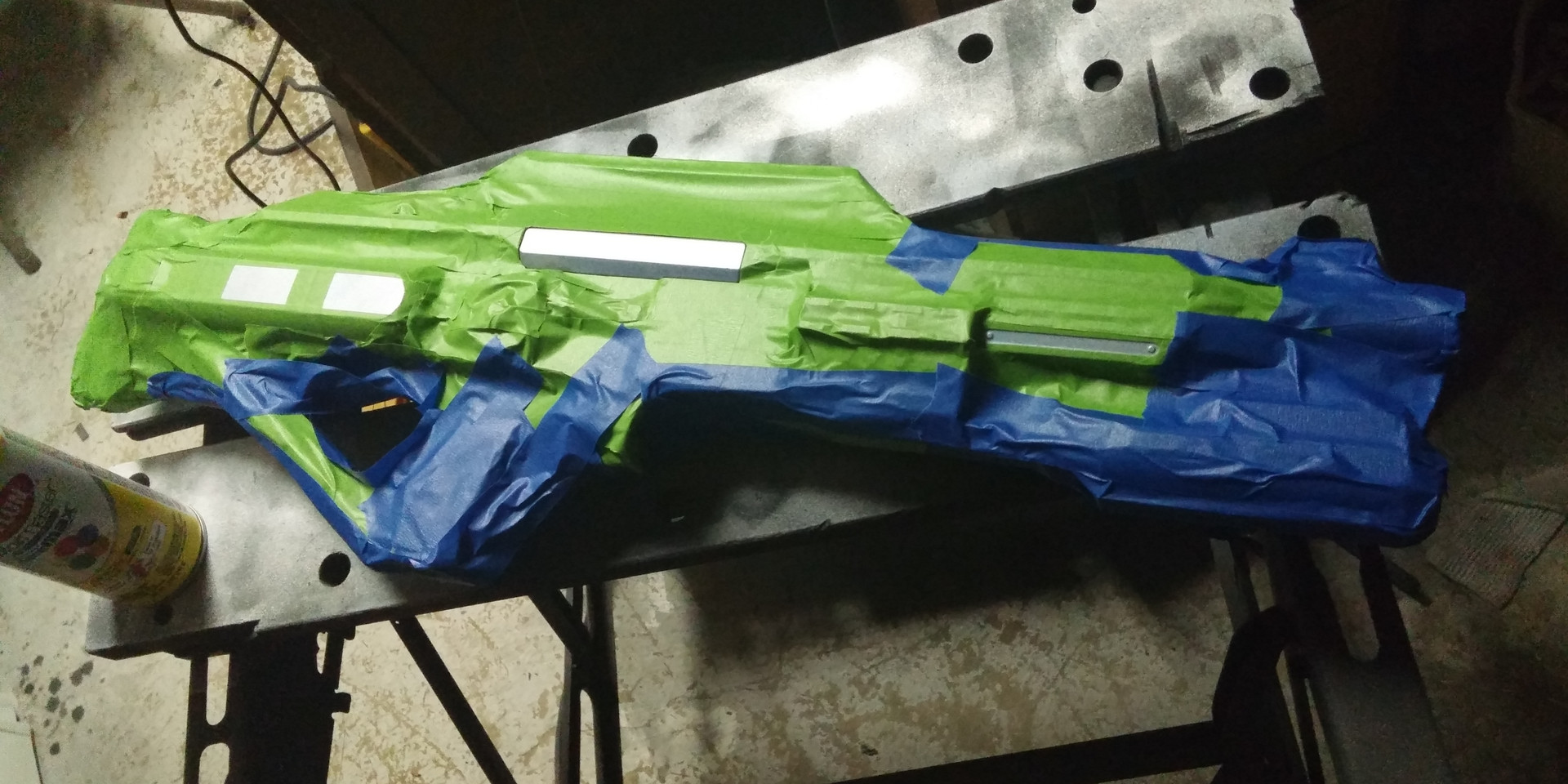 Decked out and painted nerf guns make for great sci-fi guns.