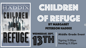 New York Times Bestselling Author, Margaret Peterson Haddix, to be at Lemuria Bookstore on September