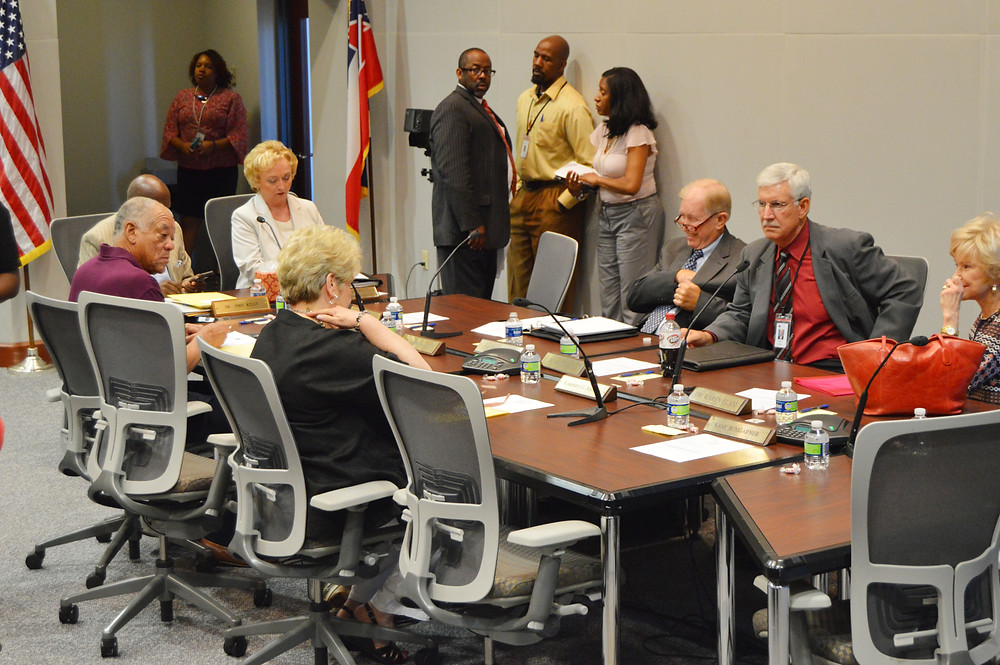 The Mississippi Board of Education meets in 2016. Photo by Steve Wilson