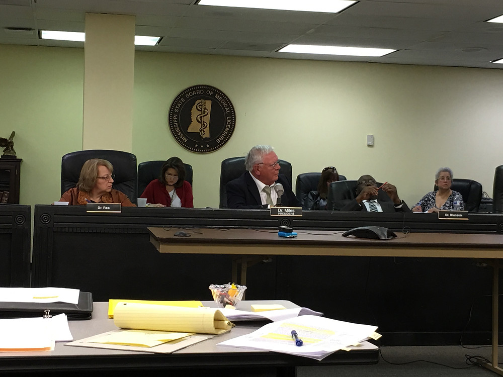 The Mississippi Board of Medical Licensure debates new regulations on the prescription of opoids. Photo by Steve Wilson