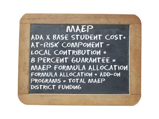 PAINFUL EQUATION: The Mississippi Adequate Education Program funding calculation is not exactly easy to figure. Photo illustration by Steve Wilson