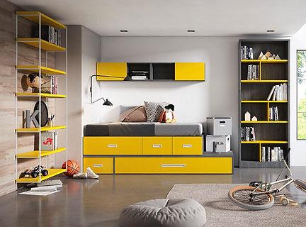 Combinado Kubox amarillo y gris