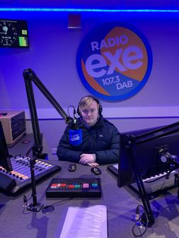 Me at Radio Exe 1