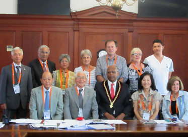 WBFF Board Members & Consultants with Stellenbosch South Africa, Mayor in Town Hall
