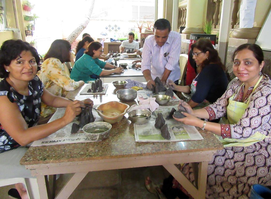 Ceramic mountain-making workshop