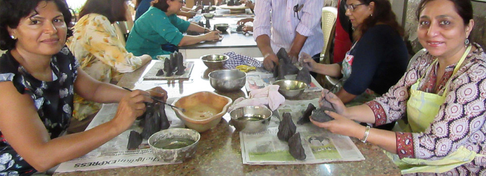 Ceramic mountain-making workshop