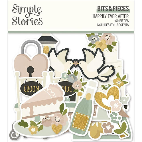 Simple Stories Happily Ever After Bits and Pieces Ephemera