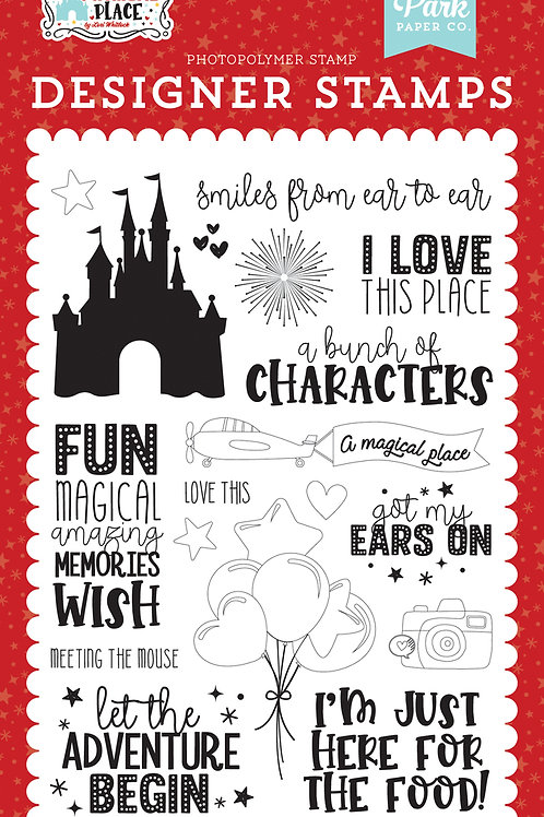 Echo Park Smiles From Ear to Ear Stamp Set