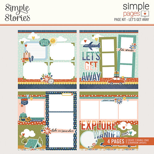 Simple Stories Let's Get Away Simple Page Kit