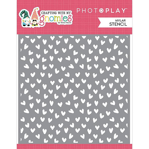 Photoplay Crafting with my Gnomies Stencil Hearts