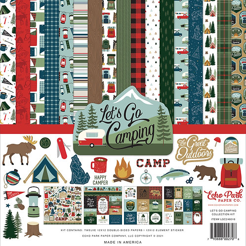 Echo Park Let's Go Camping 12x12 Collection Kit