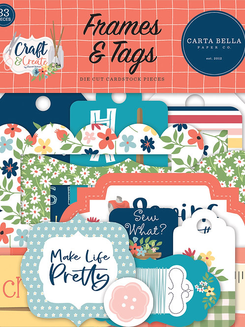 Carta Bella Craft & Create Frames and Tags
