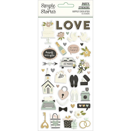 Simple Stories Happily Ever After Puffy Stickers