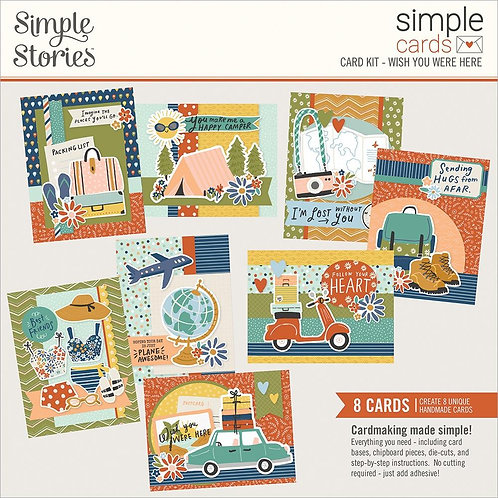 Simple Stories Wish You Were Here Simple Card Kit
