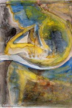 CONFLICTED MAN - Acrylic on Yupo; 63 x 4