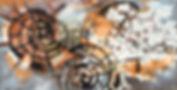 URBAN CAVE #3 - THE WHEEL - Mixed Media;