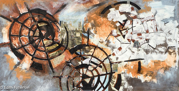 URBAN CAVE #3 - THE WHEEL - Mixed Media;