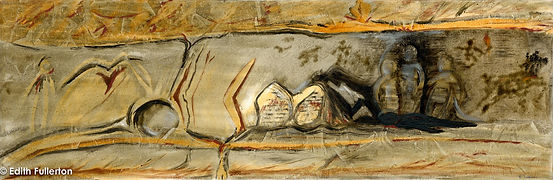 Caves (1 of 5) SURVIVAL - Oil; 92 x 31 c