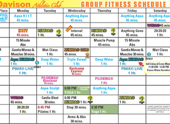 New June Group Fitness Schedule!