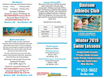 2019 Swim Lessons