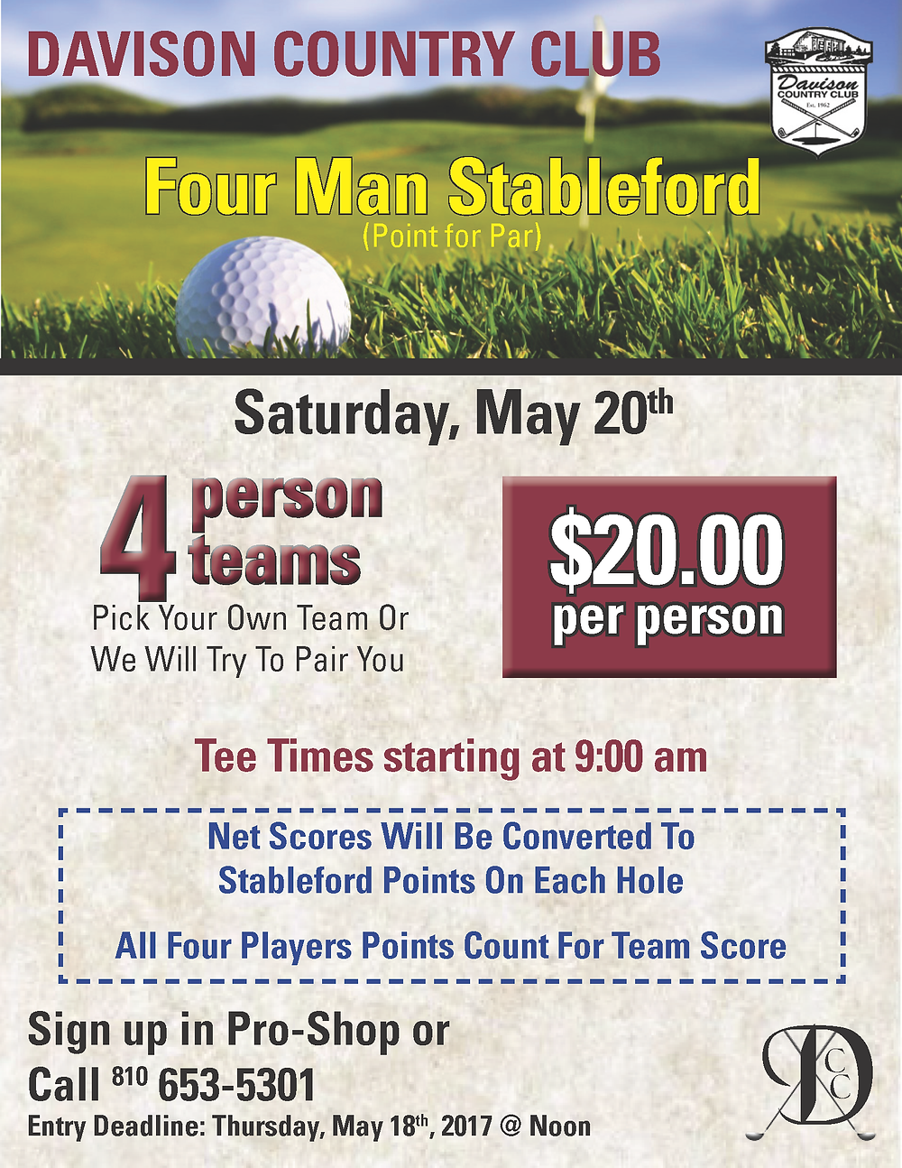 DCC Stableford Tourney