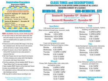 Fall/Winter Swim Lessons at DAC!
