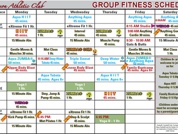 New Group Fitness Schedule